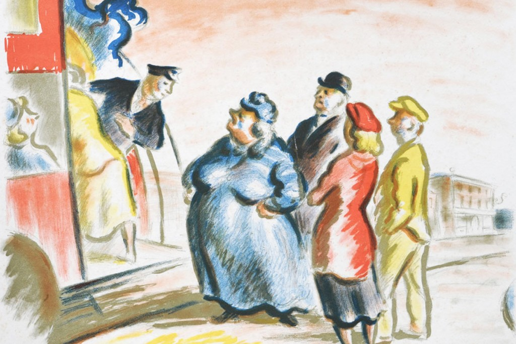 Ardizzone-Bus-Stop-Lithograph