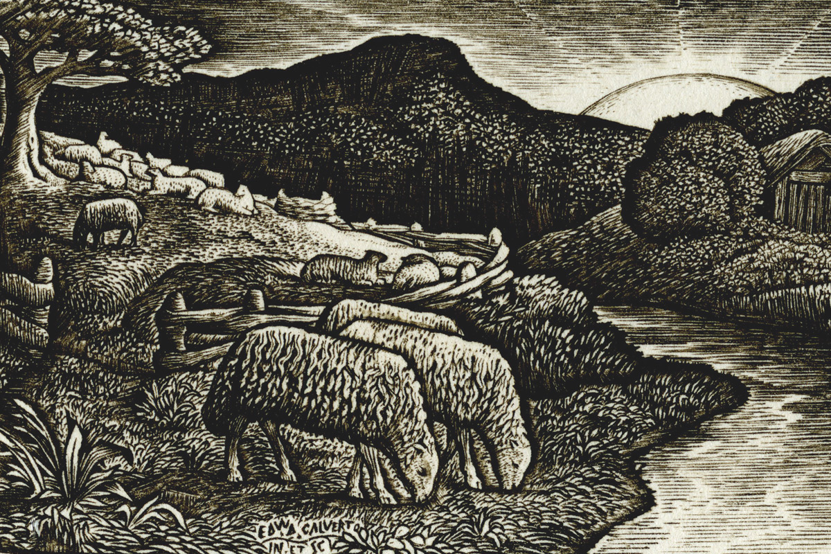 Edward-Calvert-The-Sheep-Of-His-Pasture