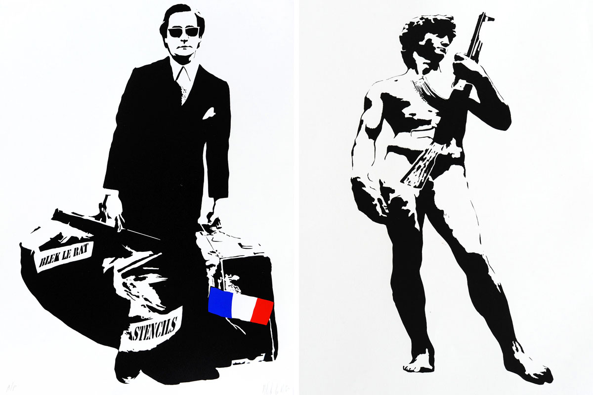 Urban-Art-Blek-Le-Rat-Man-Who-Walks-Through-Walls-and-David