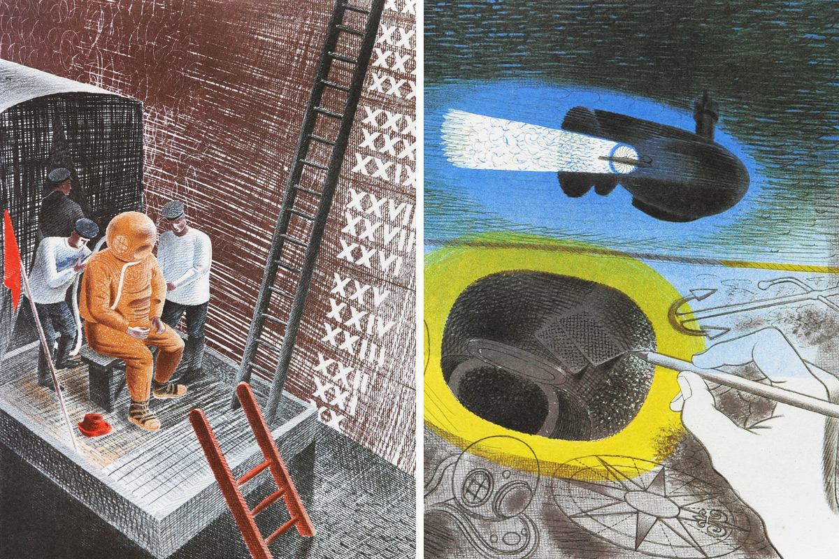 Eric-Ravilious-Diver-Submarine-Dream
