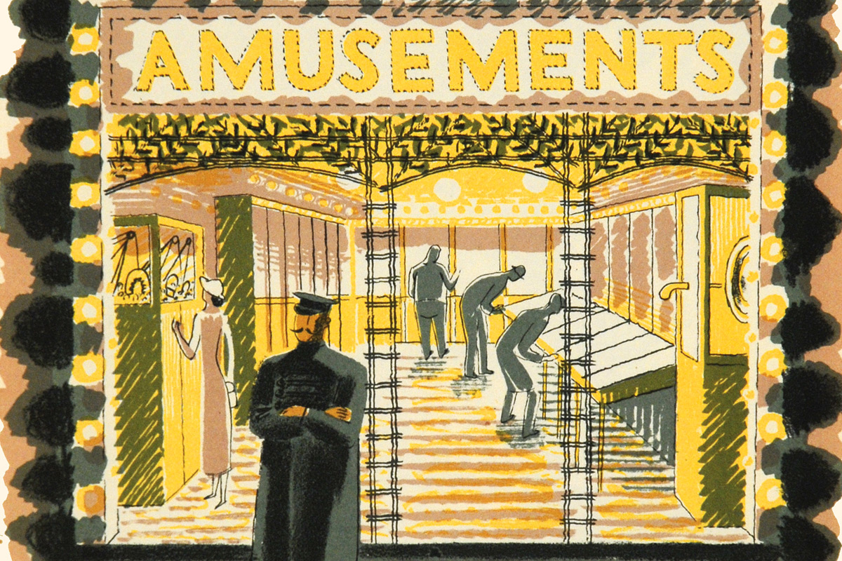 Eric-Ravilious-High-Street-Amusement-Arcade