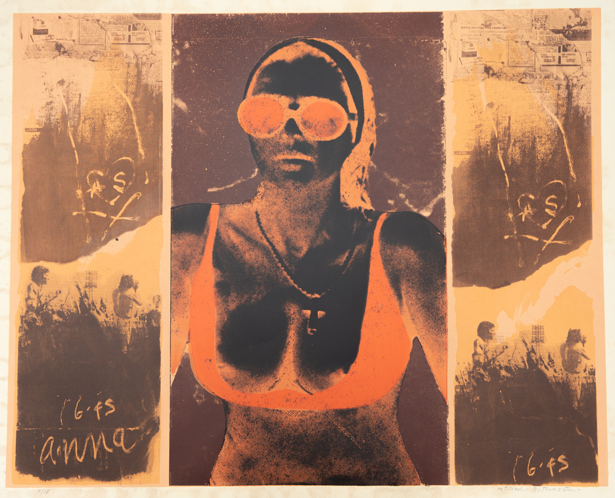 'Anna Succione', linocut with photo-screenprint; her actual surname was Fallarino