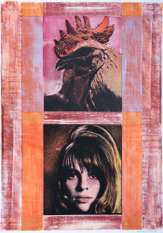 'Julie Christie', woodcut & screenprint